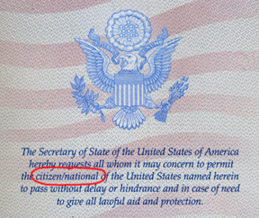U.S. Passport referenceU.S. Passport reference
